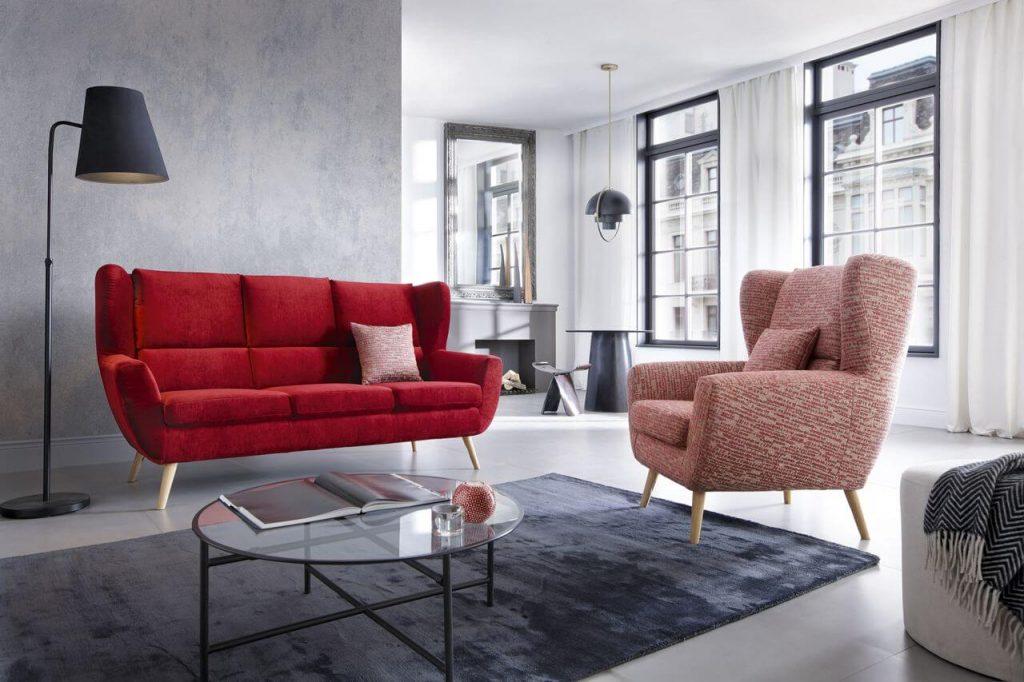 elegancka sofa dwuosobowa